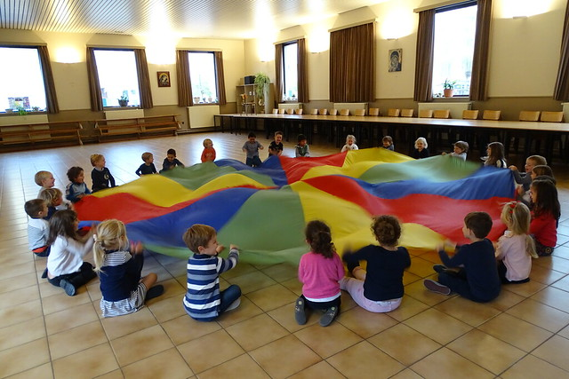 Gymles met parachute